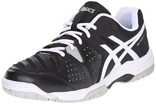 new product ec260 288f9 ASICS Men s GEL-Dedicate 4 Tennis Shoe, Black White Silver, 9.5