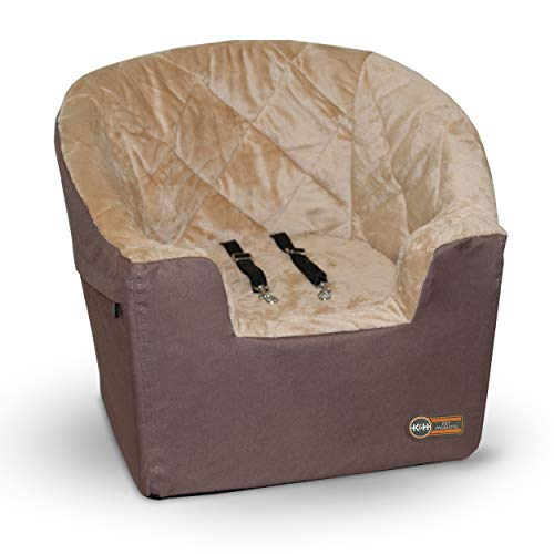 K&H Pet Products Bucket Booster Dog Car Seat Large Tan 14.5″ x 24″