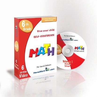 Math Tutorial 6th Grade in Video (6cd-roms)