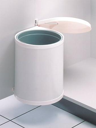 Hailo Compact-Box M, Einbau-Mülleimer aus Stahlblech/Kunststoff, 15 ...