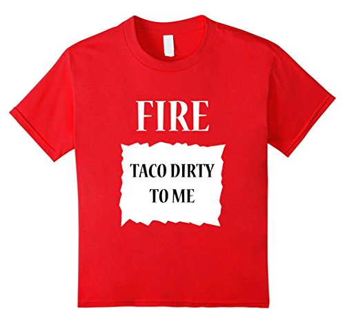 Kids Fire Hot Sauce Group Halloween Costume T-Shirt 8 Red