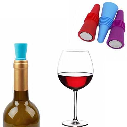 Tapones creativos de silicona para botella de vino, champaña, licor, aceites de oliva, aromas para bebidas de cerveza o...