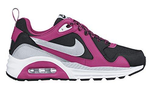 Nike Air Max Trax (GS) - Zapatillas de Running, Niñas, Negro/Plateado/Blanco/Rosa, 35 1/2
