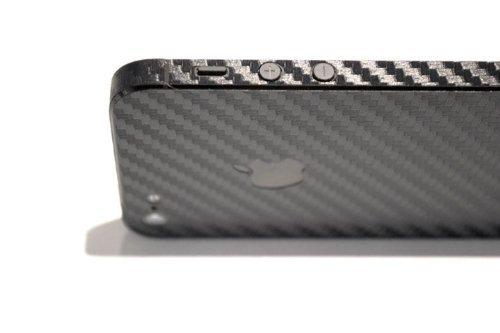 cheap for discount d3e3f 2bbfe Kapa Full Body Carbon Fiber Vinyl Skin Sticker Cover for iphone SE 5 5S -  Black