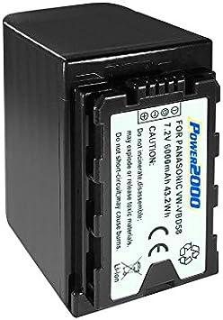 Rechargeable Lithium-Ion 940 mAh Battery Pack for Compatible Panasonic Camcorders VW-VBJ10PP1K Panasonic VW-VBJ10