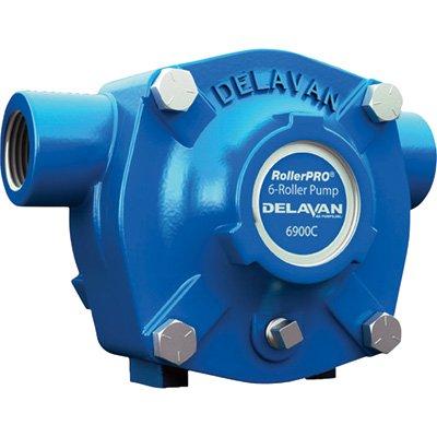 Delavan Cast Iron 6-Roller Pump - 20 GPM, 300 PSI, 1,200 RPM Model# 6900C 12 Volt Cast Iron Pump