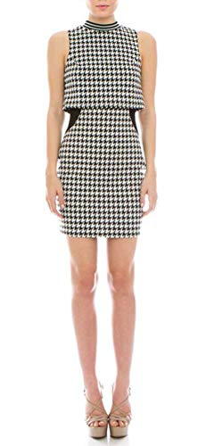 (Simply Savvy Co USA Mod Houndstooth Dresses for Women in Red or White (S,)