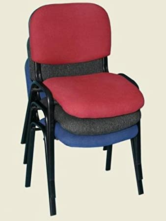 Upholstered Stacking Conference Chairs Set Of 10 Colours Blue Wine Or Charcoal Amazoncouk Kitchen Home