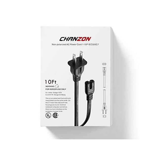 6Ft 2 Prong AC Power Cord Cable for Canon PIXMA MX452 MX472 MX870 MX922 PRO-100