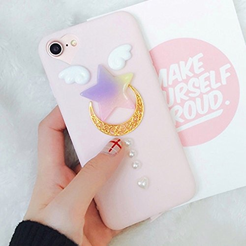 MXNET Fall, Fall für iPhone 6 u. 6s, 3D Cutie Moon Rod TPU Schutzhülle ,Iphone 6/6s Case