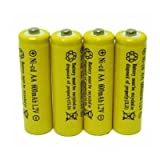 4 Piece Set AA NiCd 600mAh 1.2V Rechargeable Battery Personal Healthcare / Health Care