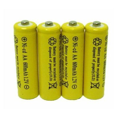 4 Piece Set AA NiCd 600mAh 1.2V Rechargeable Battery Personal Healthcare / Health Care (Health Battery Care)