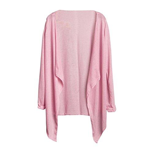 Tops Femmes, Yanhoo Femmes Long Mince Cardigan Tops Sexy Blouses Casual Filles Modal Protection Solaire D't Vtements Dames Solide Chemise Mode Longue Chemise T-shirt (Taille libre, J) D