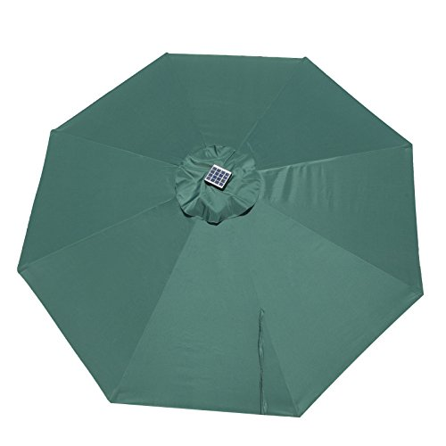 Caymus Replacement Umbrella Canopy for 9 ft 8 Ribs Patio Umbrella Dark Green (Canopy Only)