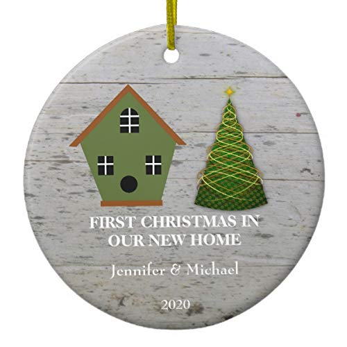 New Home Ornament 2020.Amazon Com Lplpol First Christmas In Our New Home Wood