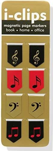 Price comparison product image Music i-clips Magnetic Page Markers (Set of 8 Magnetic Bookmarks)