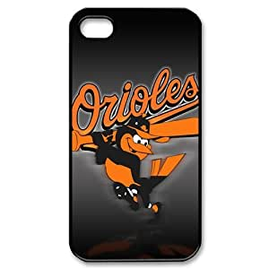 Vcase-008 MLB Major League Baseball Baltimore Orioles Team Logo 3D Hard Printed Case Protector for iPhone 4,4s