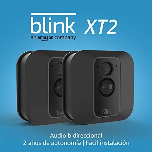 Blink XT2 | Cámara de seguridad inteligente, exteriores e interiores, almacenamiento en el Cloud, audio bidireccional, 2 años de autonomía | 2 cámaras