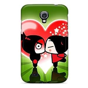 Cute Tpu DaMMeke Pucca Kiss Case Cover For Galaxy S4