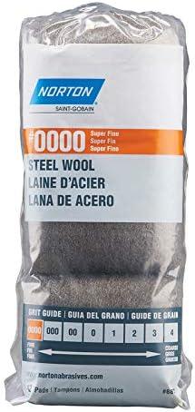 Pack of 12 Norton 1003799 0000 Grade Super Fine Steel Wool Pad