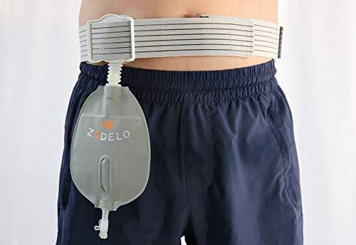 LUCKYYAN Bolsillo de escisión urinaria, cinturón Ajustable, colostomía Cuidado vejiga Corte Completo Bolsa de orina Lado...