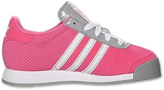 Amazon.com | adidas Samoa Leather Casual Girls' Preschool Shoes ...