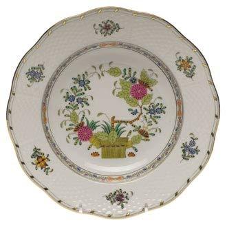 Herend Baskets - Herend Indian Basket Porcelain Rim Soup Plate