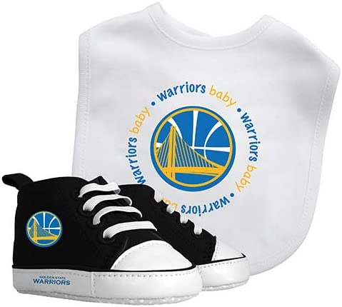 Baby Fanatic NBA Golden State Warriors Unisex GSW30002Bib /& Prewalker Gift Set See Description Golden State Warriors See Description