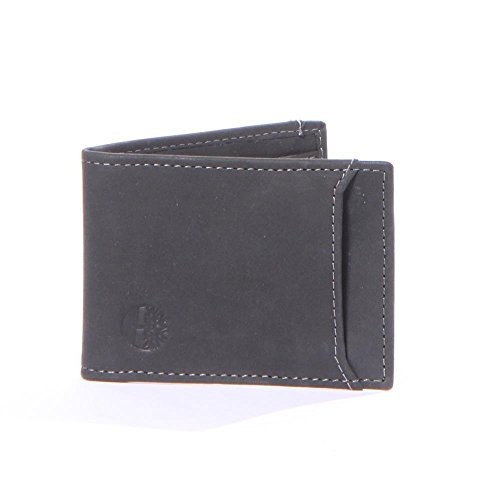 Card Men's Flip Holder Icon Clip Leather Flip Genuine Timberland Clip Black Wallets 100 RqO06