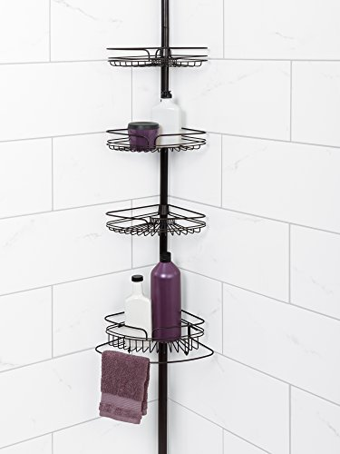 Amazon.com: Zenna Home 2132HB, Tension Corner Pole Caddy, Oil Rubbed ...