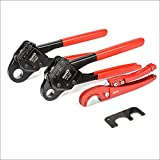 IWISS F1807 PEX Plumbing Crimping Tool for 1/2 INCH and 3/4 INCH Copper Ring Crimper Piler with GO NO GO Gauge and Free Cutter