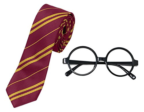 Harry Potter Halloween Costumes Easy (Harry Potter Novelty Glasses and Tie Costume Accessories for Halloween (1))