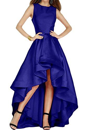 Satin A Rock Abendkleider Damen Brautjungfernkleider Marie Braut Hi Royal Linie lo La Kleider Jugendweihe Blau Twtqvxpx