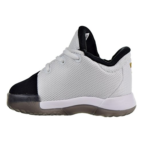 adidas Harden Vol. 1 I Shoes Unisex-Kinder White/Black/Gold Metallic