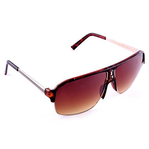 Kingpin Tortoise Brown and Silver Sunglasses