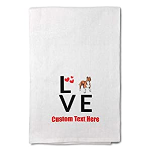 Custom Decor Flour Kitchen Towels Love Hearts American Staffordshire Terrier Pets Dogs Cleaning Supplies Dish Towels Design Only 16