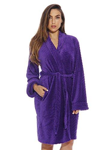 - Just Love Kimono Robe Bath Robes for Women 6312-Purple-S