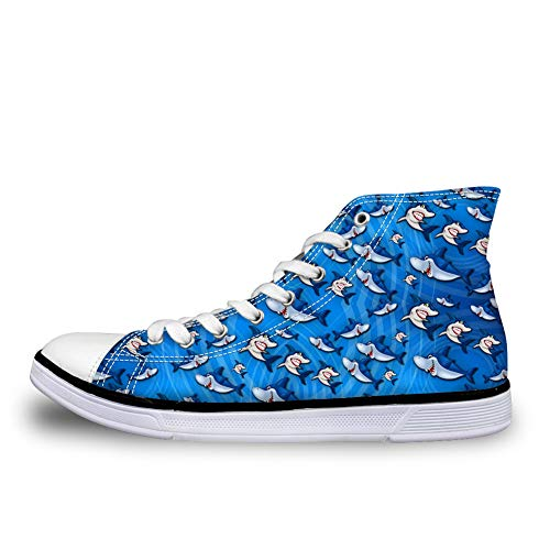 Stringate Cartoon Nopersonality Donna Scarpe Shark UqX7Xx
