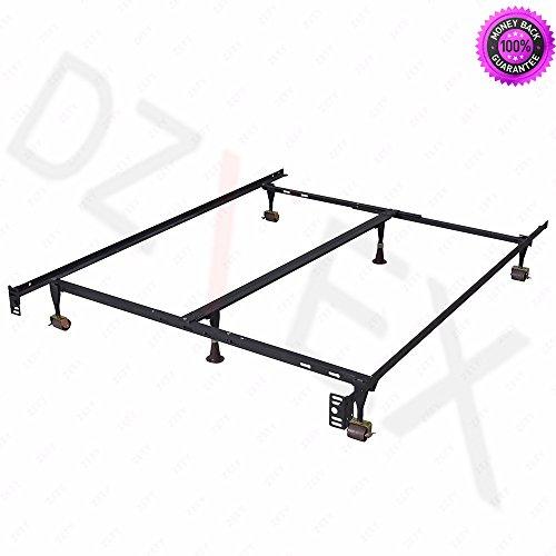 DzVeX Metal Bed Frame Adjustable Queen Full Twin Size W/Cent