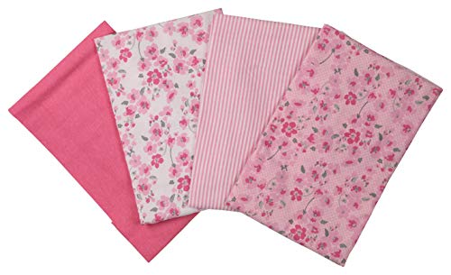 Ashley Blanket - Laura Ashley 4 Pack Laddered Blankets, Pimlico Pink