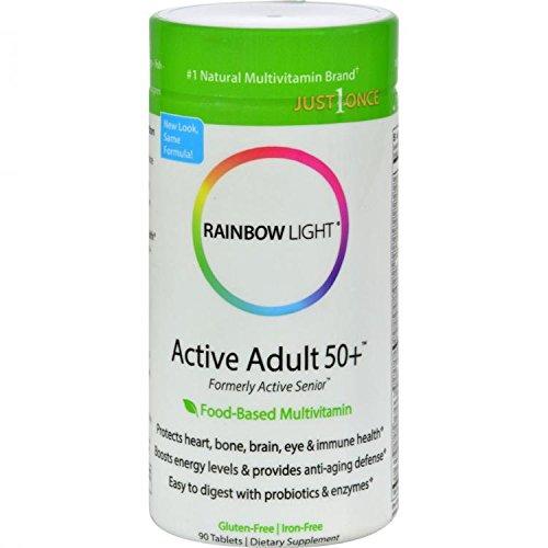 90 Tablets Rainbow Light - Rainbow Light Multivitamin One Active Senior, 90 ct
