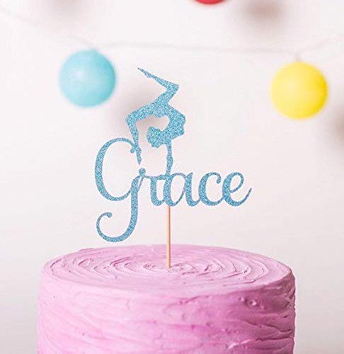 5b7cff9dcb21 Image Unavailable. Image not available for. Colour: Personalised Gymnastics  Cake Topper ...