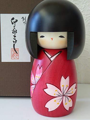 - YokohamaUSA Japanese Kokeshi Wooden Doll 5-1/8