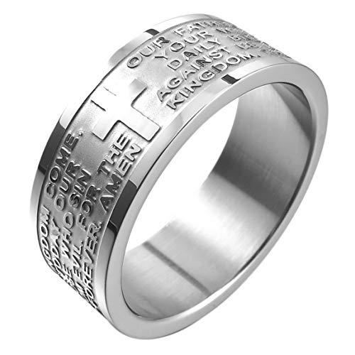 INBLUE Men,Women's Wide 8mm Stainless Steel Ring Band