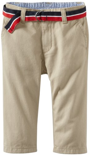 Tommy Hilfiger Baby Boys' Charlie Flat Front Pant, Travel Khaki, 12 Months