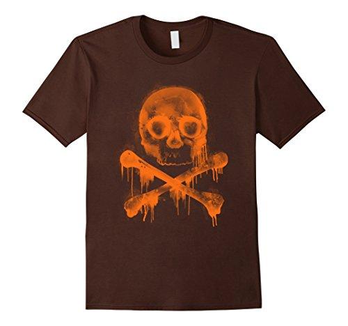 Mens Group Halloween Costume T Shirt Cool Skull Head Skeleton Fun 2XL Brown