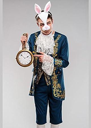 Magic Box Disfraz de Conejo Blanco Adulto Wonderland para Hombre ...