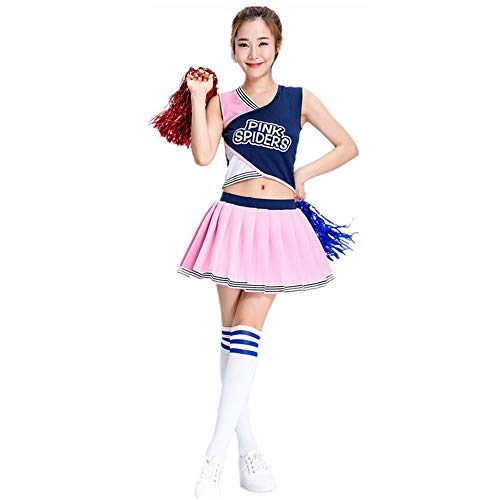 Ladies Cheerleader Pleated Skirt, Sexy School Team high School Uniform Fancy Clothing, Suitable for Chorus/Dress Party/Halloween/Masquerade Costume ZDDAB]()