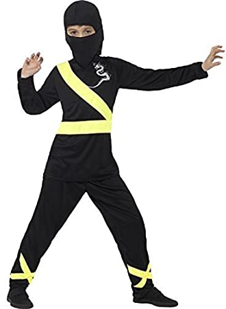 Fancy Me Niños Negro Amarillo Ninja Assassin Carnaval ...