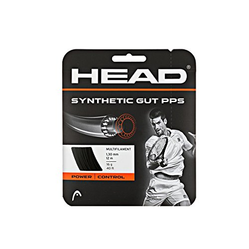 Head Synthetic Gut PPS Tennis String Set-16G Black (Gut Tennis String Set)
